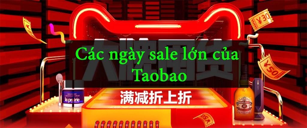 các ngày sale của taobao